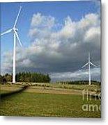 Windturbines Metal Print by Bernard Jaubert
