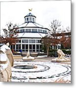 Winter In Coolidge Park Metal Print by Tom and Pat Cory