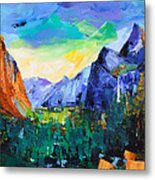 Yosemite Valley - Tunnel View Metal Print by Elise Palmigiani