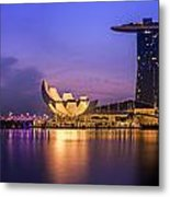 Singapore City Metal Print by Anek Suwannaphoom