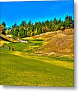 #12 At Chambers Bay Golf Course - Location Of The 2015 U.s. Open Championship Metal Print by David Patterson