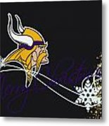 Minnesota Vikings Metal Print by Joe Hamilton