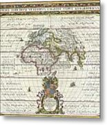 1650 Jansson Map Of The Ancient World Metal Print by Paul Fearn