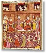 Shahnameh. The Book Of Kings. 16th C Metal Print by Everett