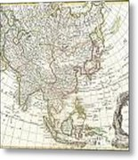 1770 Janvier Map Of Asia Metal Print by Paul Fearn