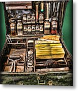1800's Fingerprint Kit Metal Print by Lee Dos Santos