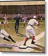 1898 Baseball -  American Pastime  Metal Print by Daniel Hagerman