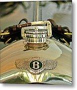 1925 Bentley 3-liter 100mph Supersports Brooklands Two-seater Radiator Cap Metal Print by Jill Reger