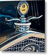 1931 Model A Ford Deluxe Roadster Hood Ornament Metal Print by Jill Reger