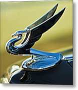 1935 Chevrolet Sedan Hood Ornament 2 Metal Print by Jill Reger