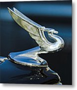 1935 Chevrolet Sedan Hood Ornament Metal Print by Jill Reger