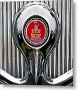 1935 Pierce-arrow 845 Coupe Emblem Metal Print by Jill Reger