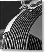 1935 Pontiac Sedan Hood Ornament 3 Metal Print by Jill Reger