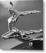 1935 Pontiac Sedan Hood Ornament 4 Metal Print by Jill Reger