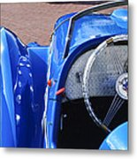 1937 Peugeot 402 Darl'mat Legere Speacial Sport Roadster Recreation Steering Wheel Emblem Metal Print by Jill Reger