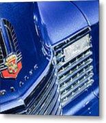 1941 Cadillac Emblem Metal Print by Jill Reger