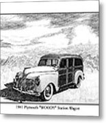 1941 Plymouth Woody Metal Print by Jack Pumphrey