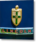 1942 Lincoln Continental Cabriolet Emblem Metal Print by Jill Reger