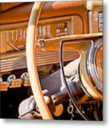 1942 Packard Darrin Convertible Victoria Steering Wheel Metal Print by Jill Reger