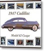 1947 Cadillac Model 62 Coupe Art Metal Print by Jill Reger