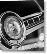 1949 Plymouth P-18 Special Deluxe Convertible Steering Wheel Emblem Metal Print by Jill Reger