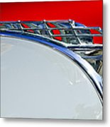 1950 Plymouth Hood Ornament 3 Metal Print by Jill Reger