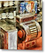 1950's - The Greasy Spoon Metal Print by Mike Savad