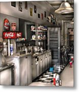 1950's - The Soda Fountain Metal Print by Mike Savad