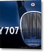 1951 Jaguar Proteus C-type Grille Emblem 3 Metal Print by Jill Reger