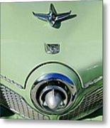 1951 Studebaker Commander Hood Ornament 2 Metal Print by Jill Reger