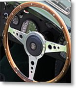 1952 Jaguar Xk120 Roadster 5d22971 Metal Print by Wingsdomain Art and Photography
