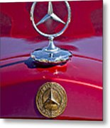1953 Mercedes Benz Hood Ornament Metal Print by Jill Reger