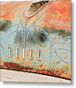 1954 Buick Special Hood Ornament Metal Print by Jill Reger