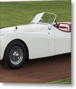 1954 Jaguar Xk120 Roadster  Metal Print by Jill Reger