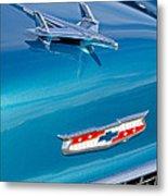 1955 Chevrolet Belair Hood Ornament 7 Metal Print by Jill Reger