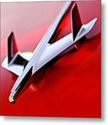 1955 Chevrolet Belair Nomad Hood Ornament Metal Print by Jill Reger