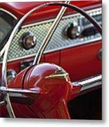 1955 Chevrolet Belair Nomad Steering Wheel Metal Print by Jill Reger