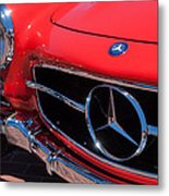 1955 Mercedes-benz 300sl Gullwing Grille Emblems Metal Print by Jill Reger