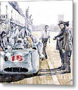 1955 Mercedes Benz W 196 Str Stirling Moss Italian Gp Monza Metal Print by Yuriy  Shevchuk