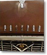 1955 Packard 400 Hood Ornament Metal Print by Jill Reger