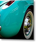 1956 Baby Blue Chevy Corvette Metal Print by David Patterson