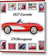 1957 Chevrolet Corvette Art Metal Print by Jill Reger