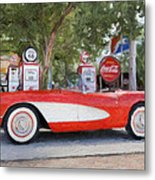 1957 Chevy Corvette Metal Print by Robert Jensen