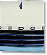 1958 Dodge Sweptside Truck Grille Metal Print by Jill Reger