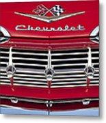 1959 Chevrolet Grille Ornament Metal Print by Jill Reger