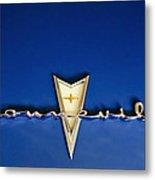 1959 Pontiac Bonneville Emblem Metal Print by Jill Reger
