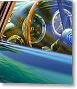 1960 Aston Martin Db4 Series II Steering Wheel Metal Print by Jill Reger