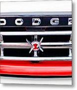 1960 Dodge Truck Grille Emblem Metal Print by Jill Reger