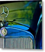 1960 Mercedes-benz 220 Se Convertible Hood Ornament Metal Print by Jill Reger
