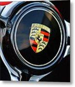 1960 Porsche 356 B Roadster Steering Wheel Emblem Metal Print by Jill Reger